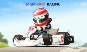 LOGO MGM KART RACING
